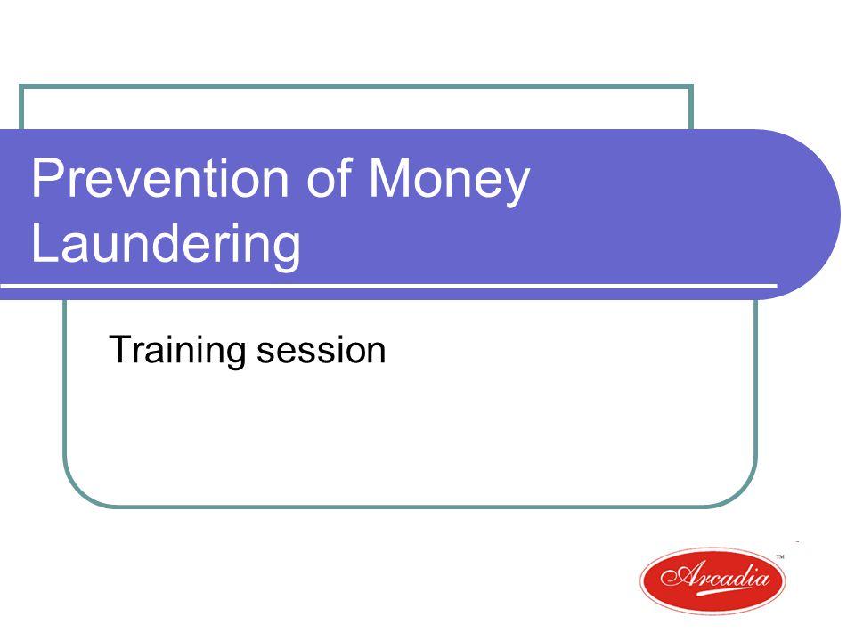Prevention of Money Laundering Training session
