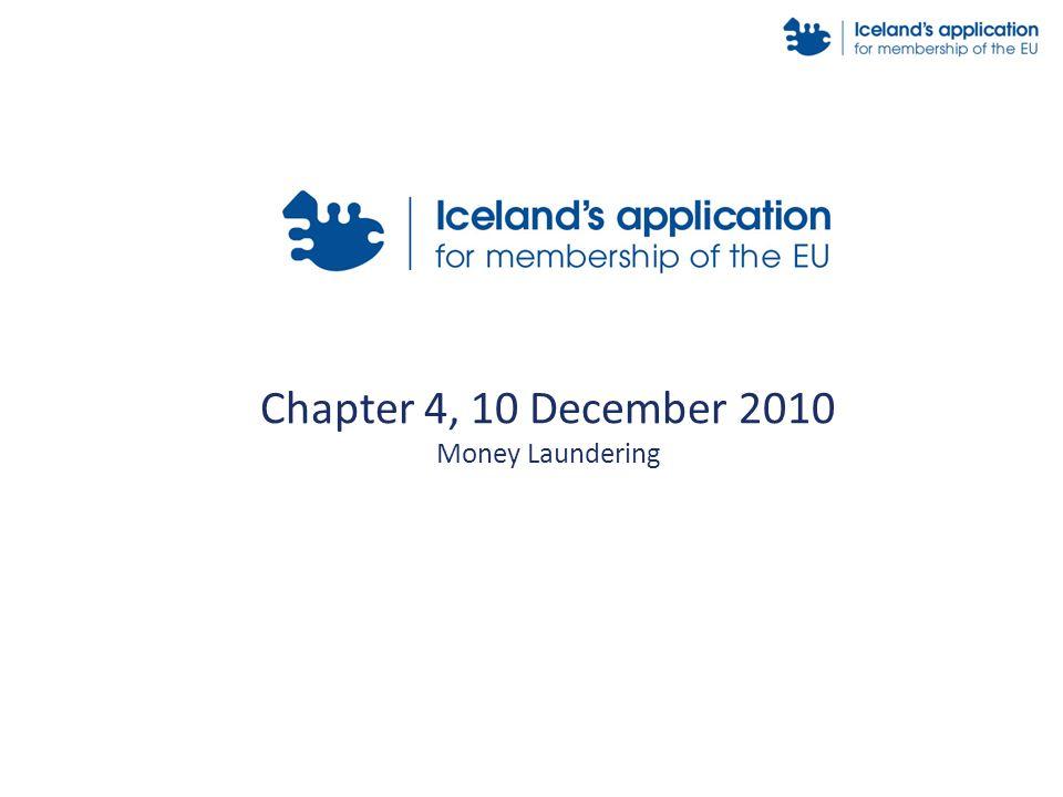 Chapter 4, 10 December 2010 Money Laundering