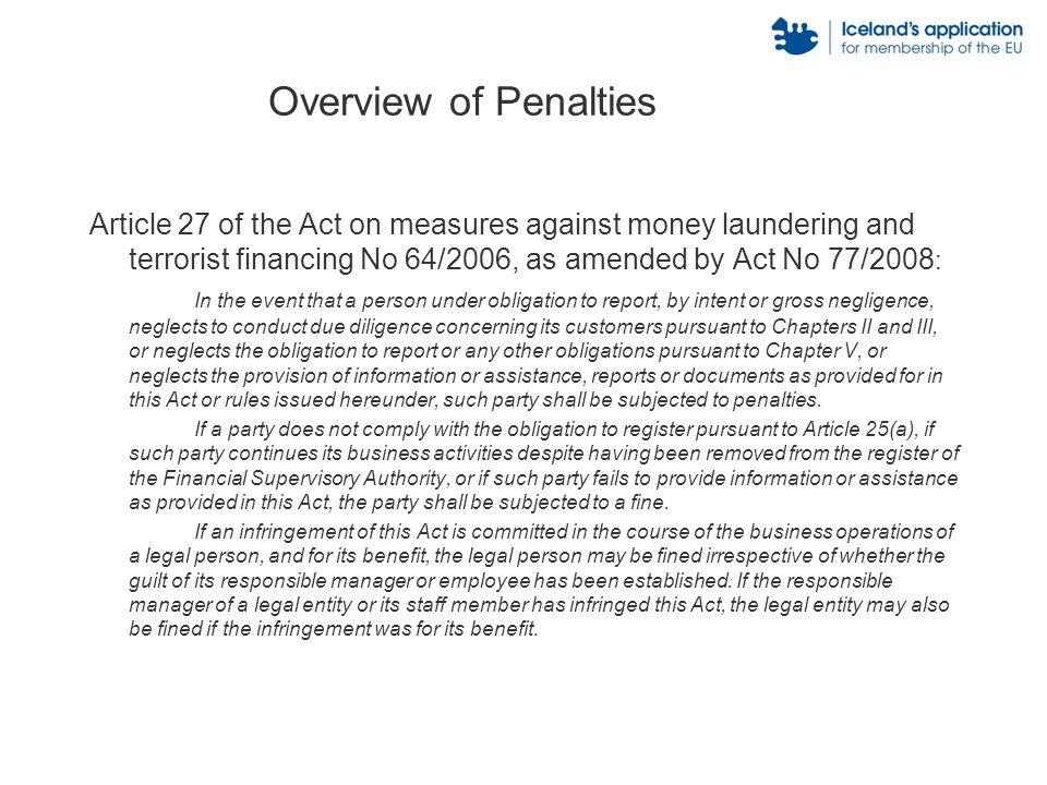 Overview of Penalties Article 264 of the General Penal Code, as amended with Act No.