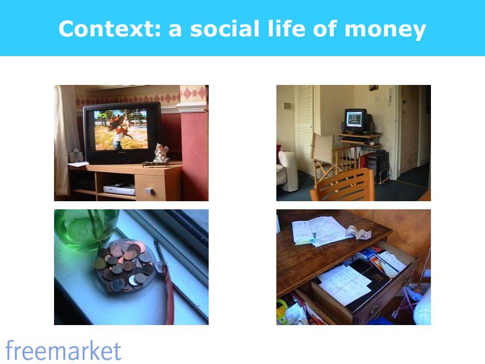 Context: a social life of money