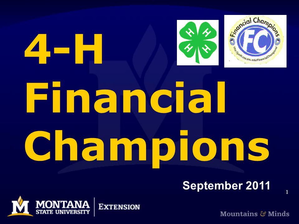 4-H Financial Champions September