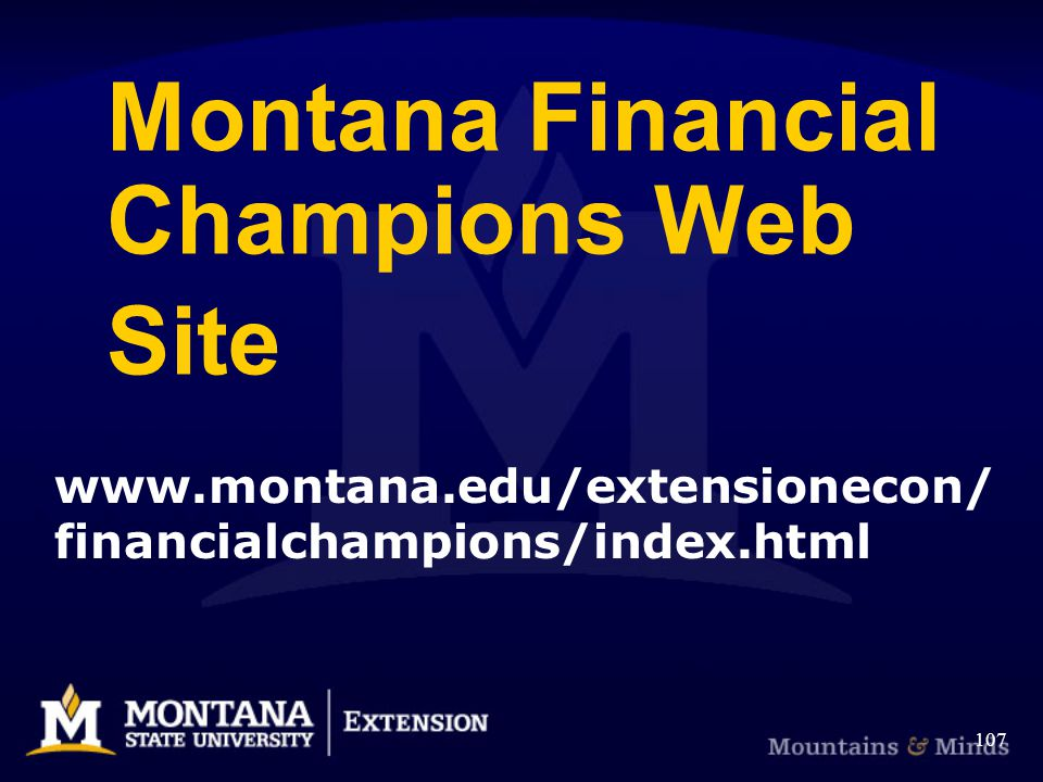 Montana Financial Champions Web Site financialchampions/index.html