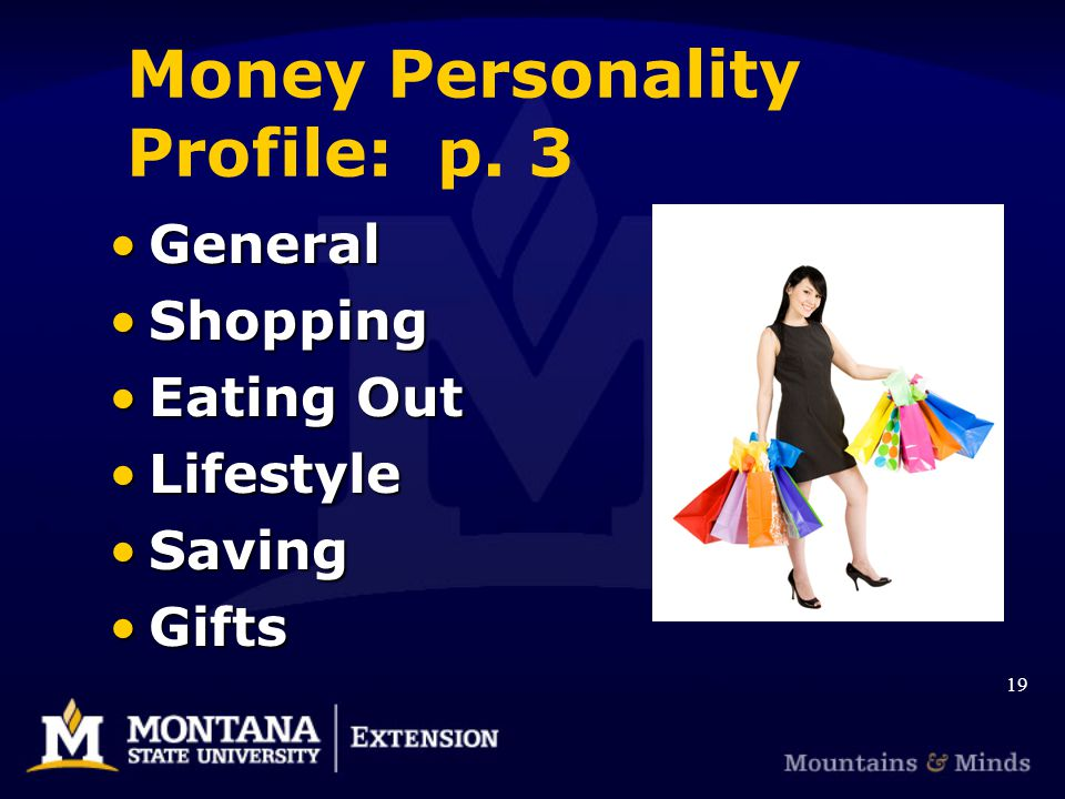 Money Personality Profile: p.