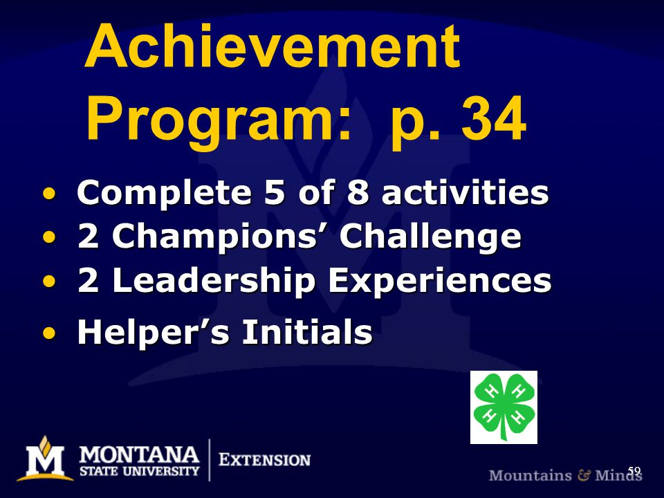 Achievement Program: p.