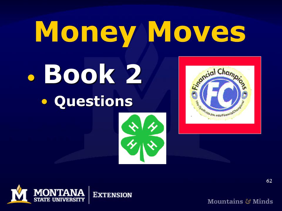 Money Moves Book 2 Book 2 Questions Questions 62