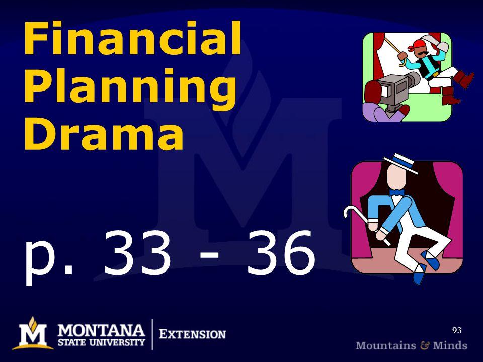 Financial Planning Drama p. 33 - 36 93