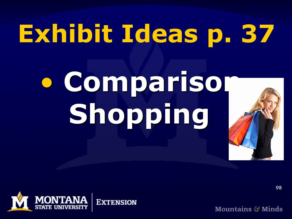 Exhibit Ideas p. 37 Comparison Shopping Comparison Shopping 98