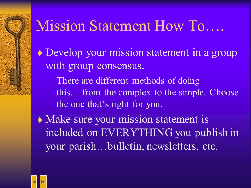 Why have a Mission Statement.