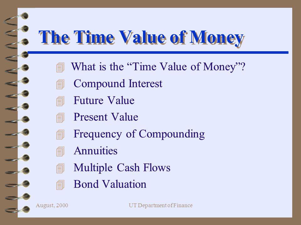 August, 2000UT Department of Finance Double Your Money!!.