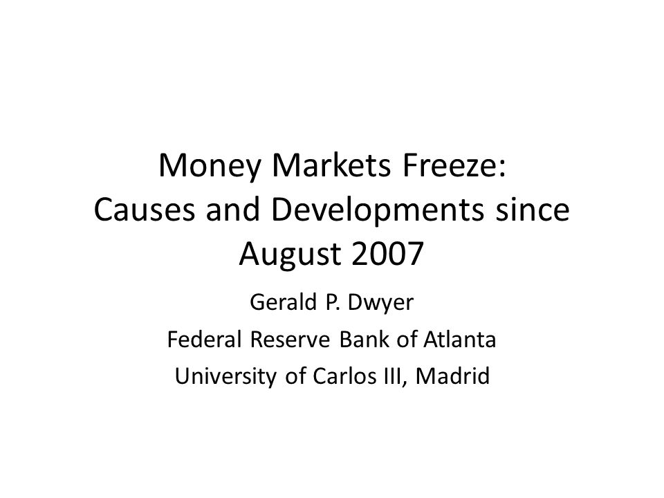Disclaimer These views are mine and not necessarily those of the Federal Reserve Bank of Atlanta or the Federal Reserve System.