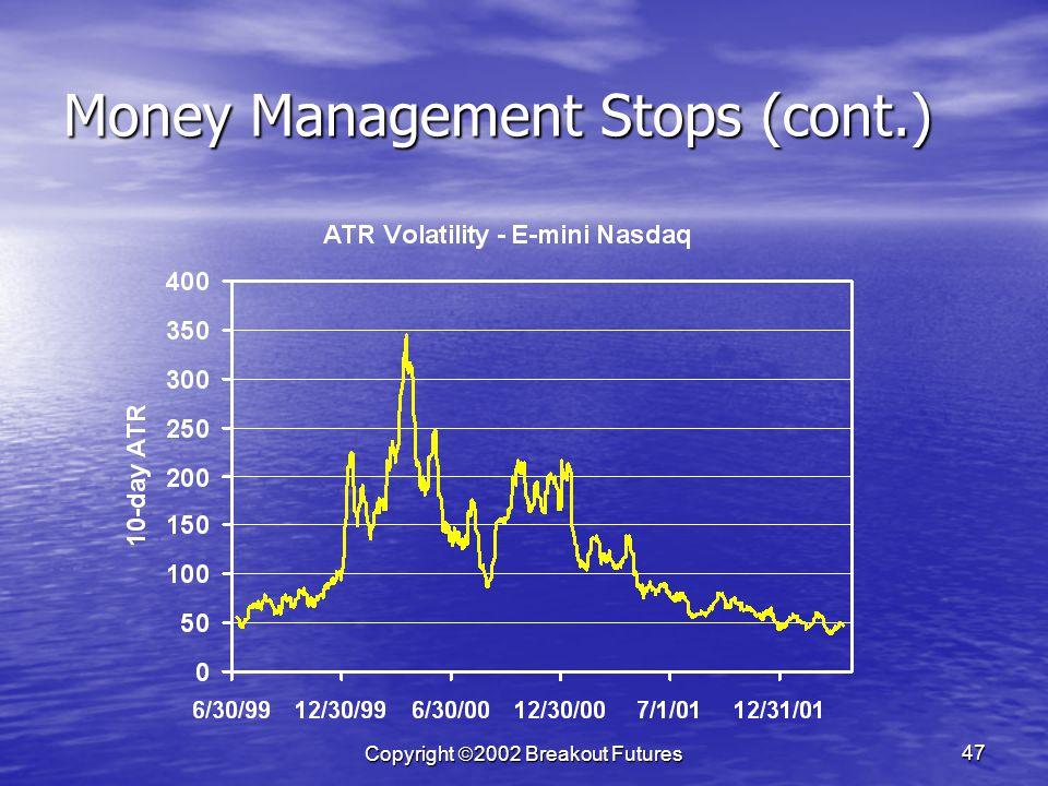 Copyright 2002 Breakout Futures 47 Money Management Stops (cont.)