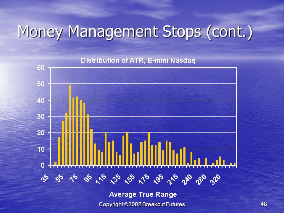 Copyright 2002 Breakout Futures 48 Money Management Stops (cont.)