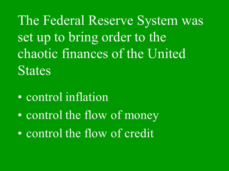 Aim: How does the U.S control Money?