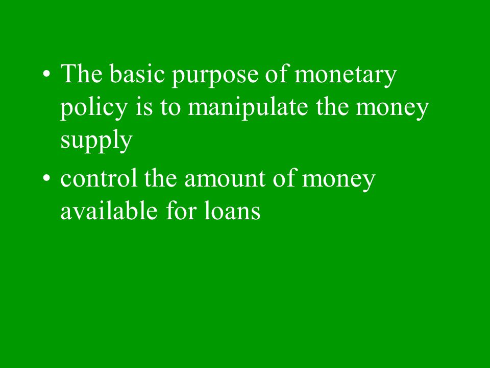 Aim: How does the Fed control the money supply?