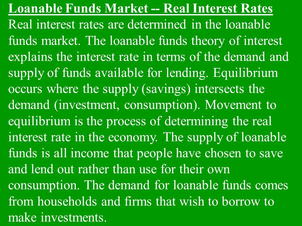 Nominal rates are determined in the money market.