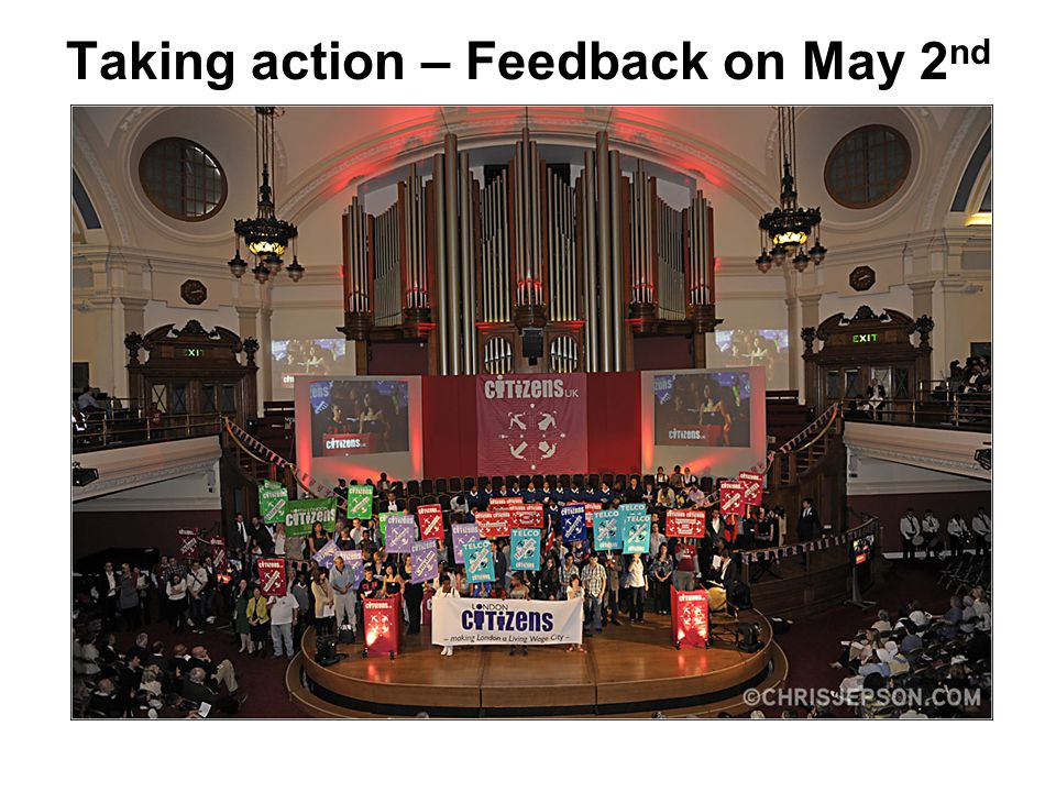 Taking action – Feedback on May 2 nd