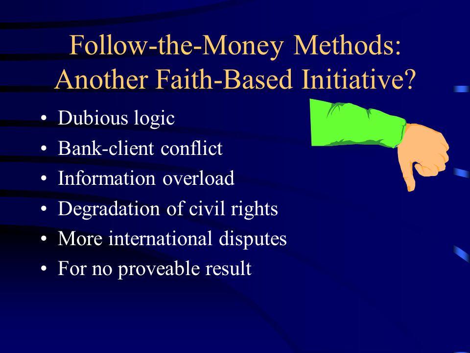e. Attacking Terrorist Finance. Removes motive. - No Removes means.