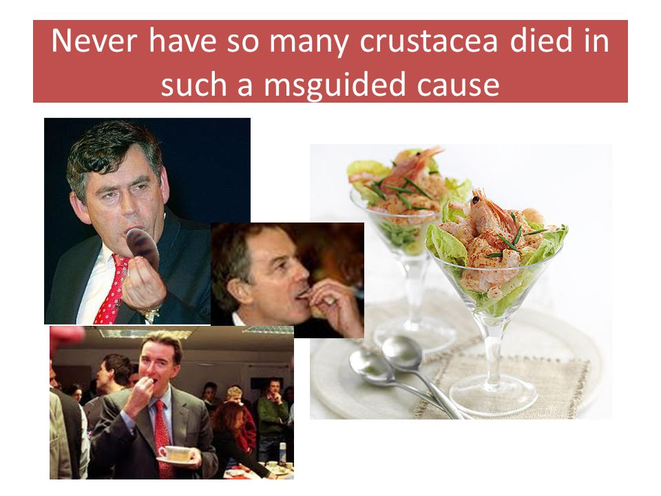 Never have so many crustacea died in such a msguided cause