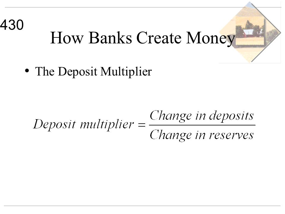 430 How Banks Create Money The Deposit Multiplier