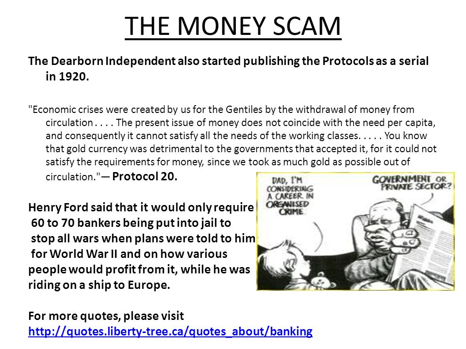The Dearborn Independent also started publishing the Protocols as a serial in 1920.