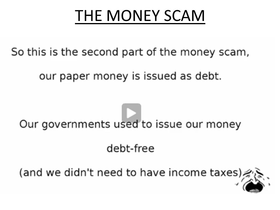 THE MONEY SCAM