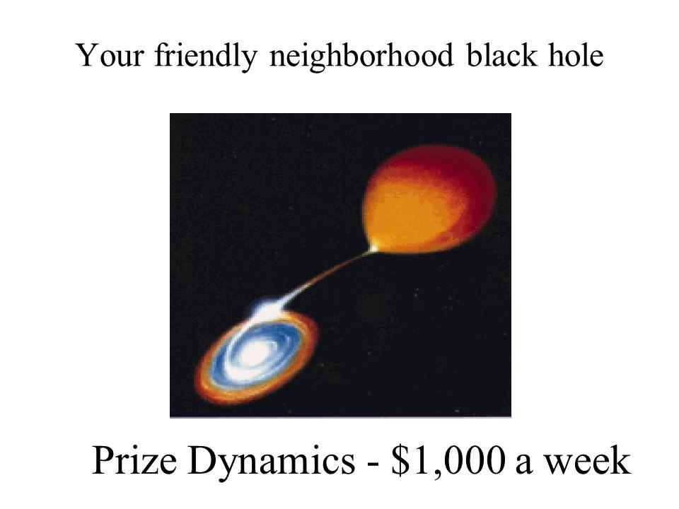 Your friendly neighborhood black hole Prize Dynamics - $1,000 a week