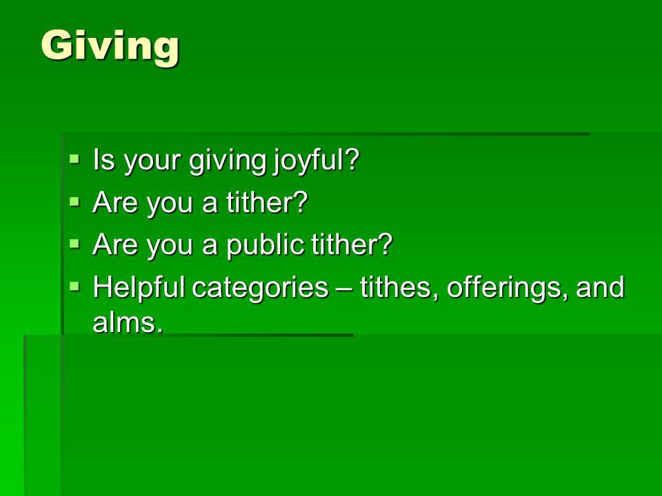 Giving Is your giving joyful. Is your giving joyful.