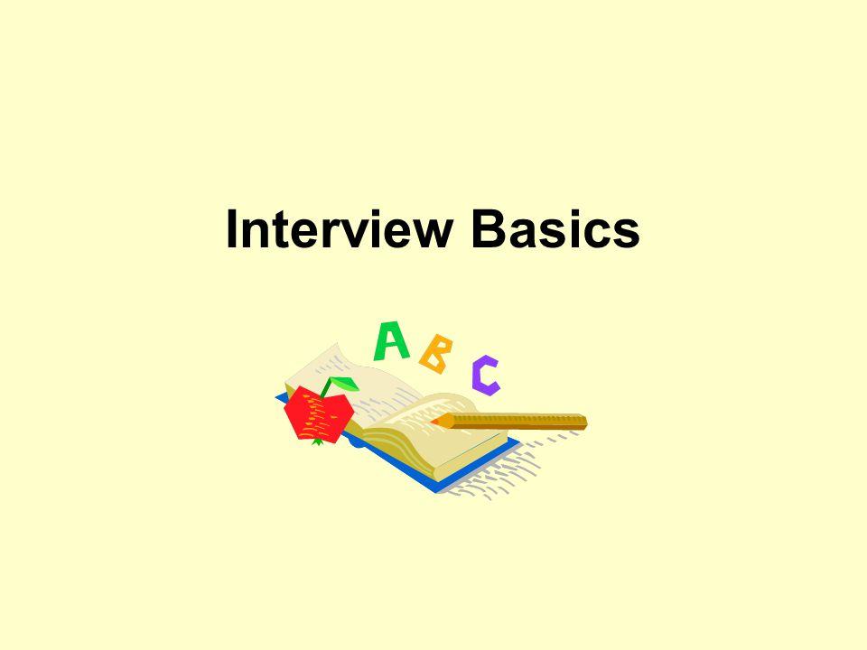 Interview Basics