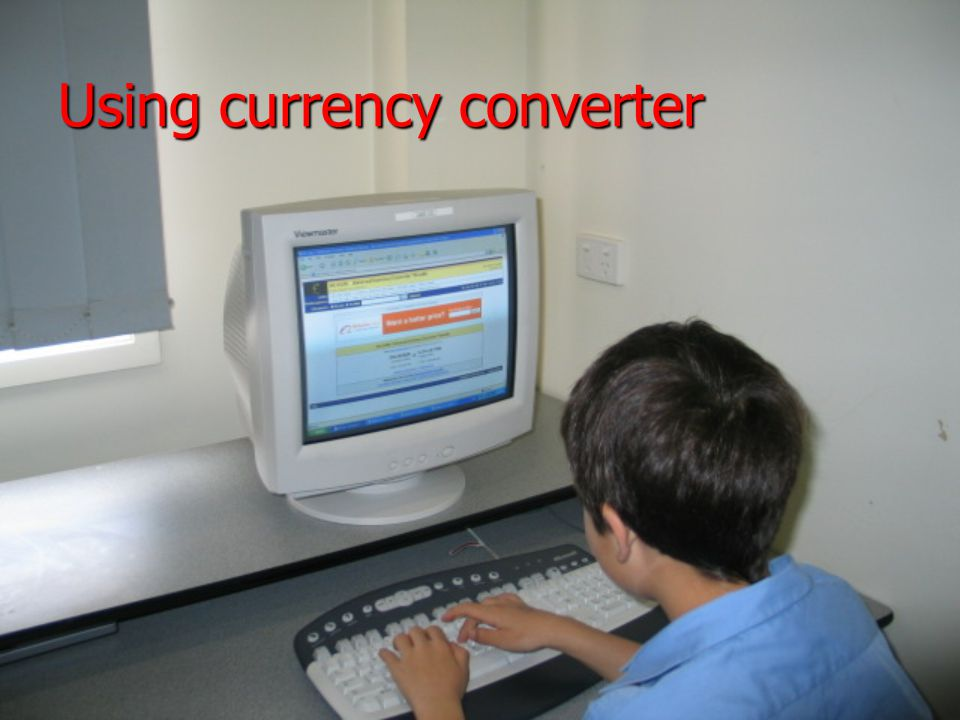 Using currency converter