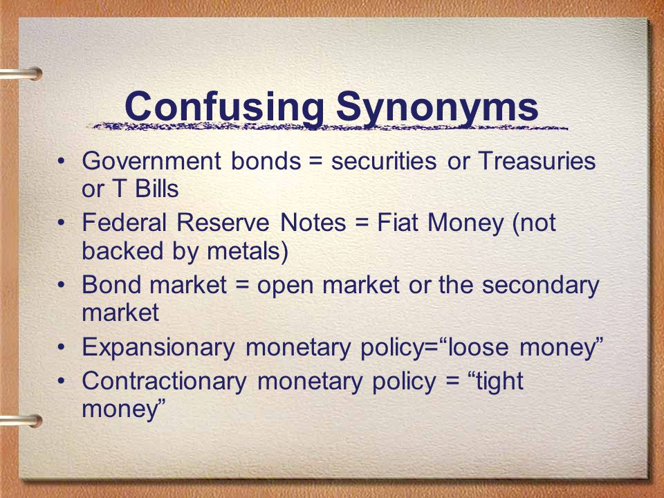 Open Market Operations The FED can increase or decrease the money supply quickly through the buying and selling T-Bills (Treasury Bills) with its FED