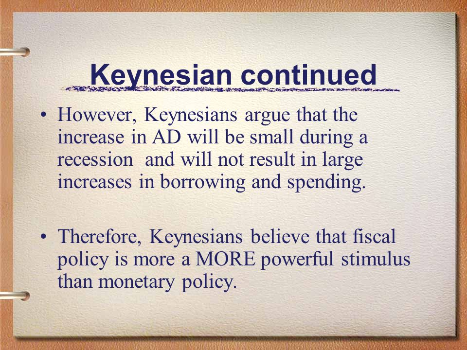 Keynesianism and Monetary Policy Keynesians believe that monetary policy functions through the single channel of the interest rate The FED s expansion