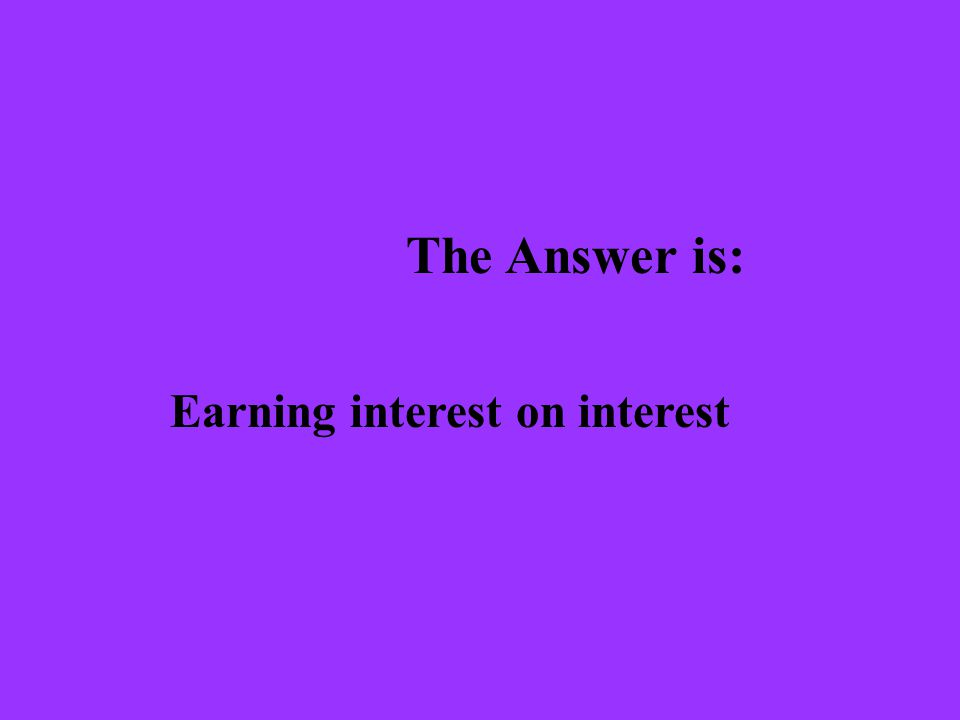 The Question is: What is the Rule of 72?