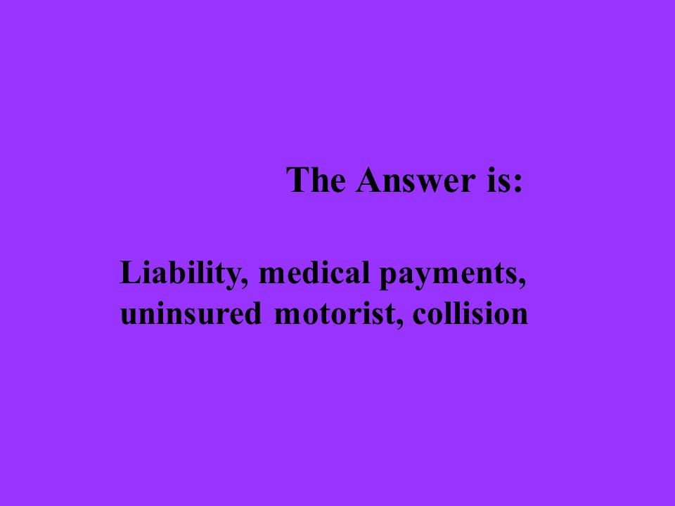 The Question is: What is a deductible?