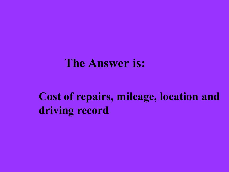 The Question is: What are types of coverage an auto insurance policy can have