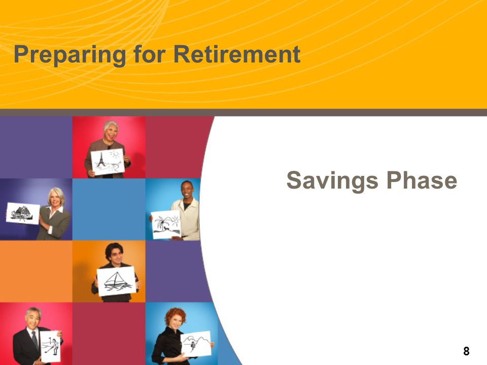 Outliving your savings 95 25% chance one spouse will live to age 95 91 50% chance one spouse will live to age 91 Source: Canadian Institute of Actuaries – 1994 Uninsured Pensioner Mortality Table Projected to 2020.