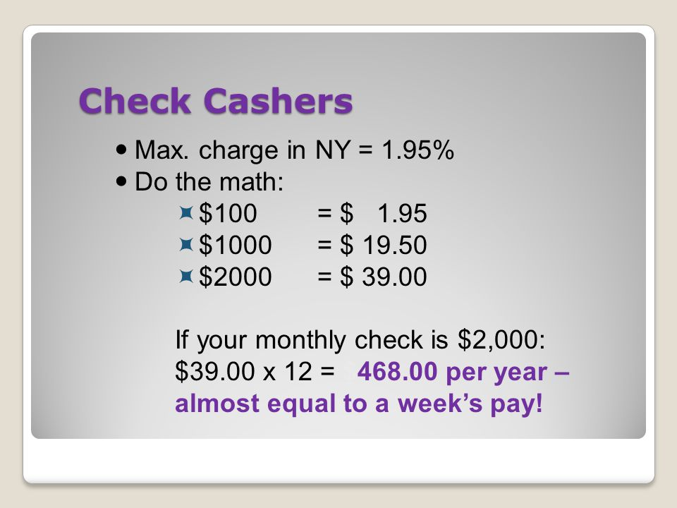 Check Cashers Max.