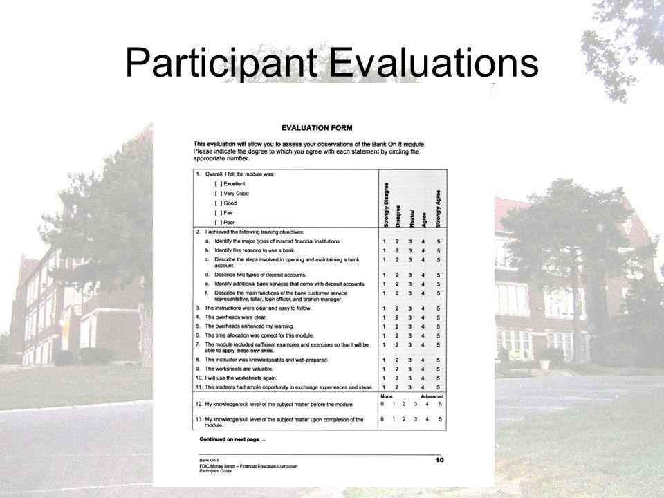 Participant Evaluations