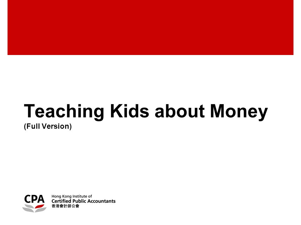 Teaching Kids about Money (Full Version)