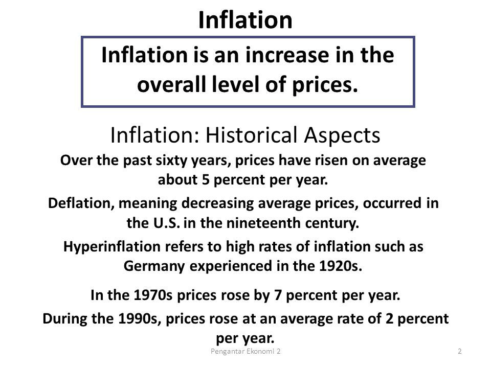 The Classical Theory of Inflation The quantity theory of money is used to explain the long- run determinants of the price level and the inflation rate.