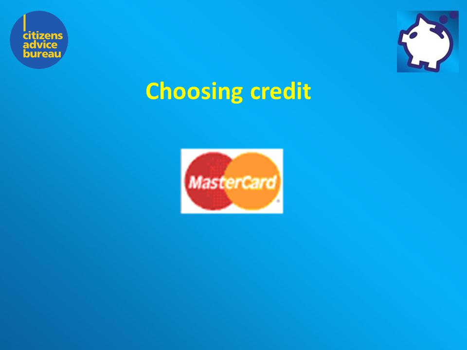 The Charity for your Community Choosing credit