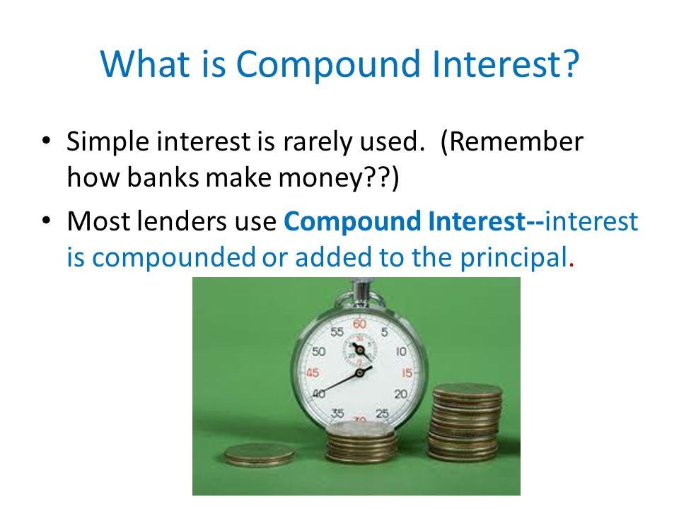 What is Compound Interest. Simple interest is rarely used.