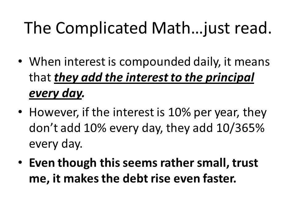 The Complicated Math…just read.
