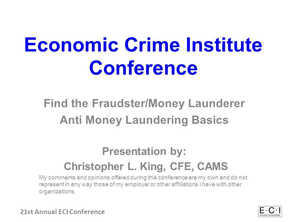 Session Agenda Discuss Anti-Money Laundering (AML ) terms.
