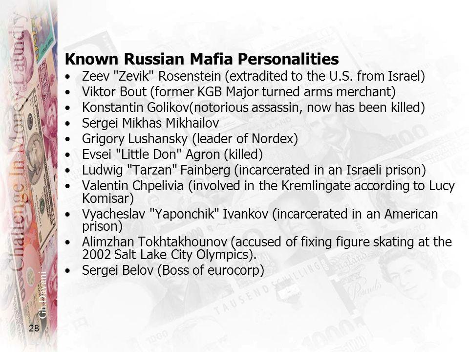 28 Known Russian Mafia Personalities Zeev