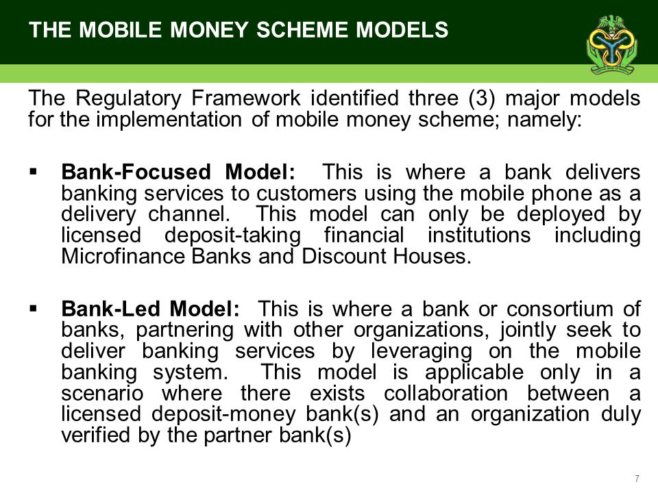 18 REASONS FOR TELCO EXCLUSION Systemic Risk Reduction- It was identified that the expected volume of Mobile Payments transactions in a large market as Nigeria had the potential to introduce systemic risk to the entire payments System and as such the Bank-centric models (with stringent controls) are encouraged over and above the Telco led which the CBN has little or no control over Reconciliation issues- Reconciliation is the critical and final aspect of payments and settlements systems; the regulatory framework ensures that this problem is handled only by the traditional organizations, i.e.