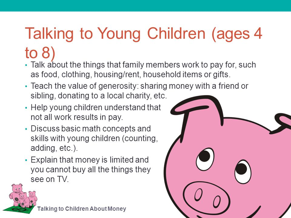 Personal Earnings and Children Consider what kind of work or jobs may be suitable for young children to earn some money.