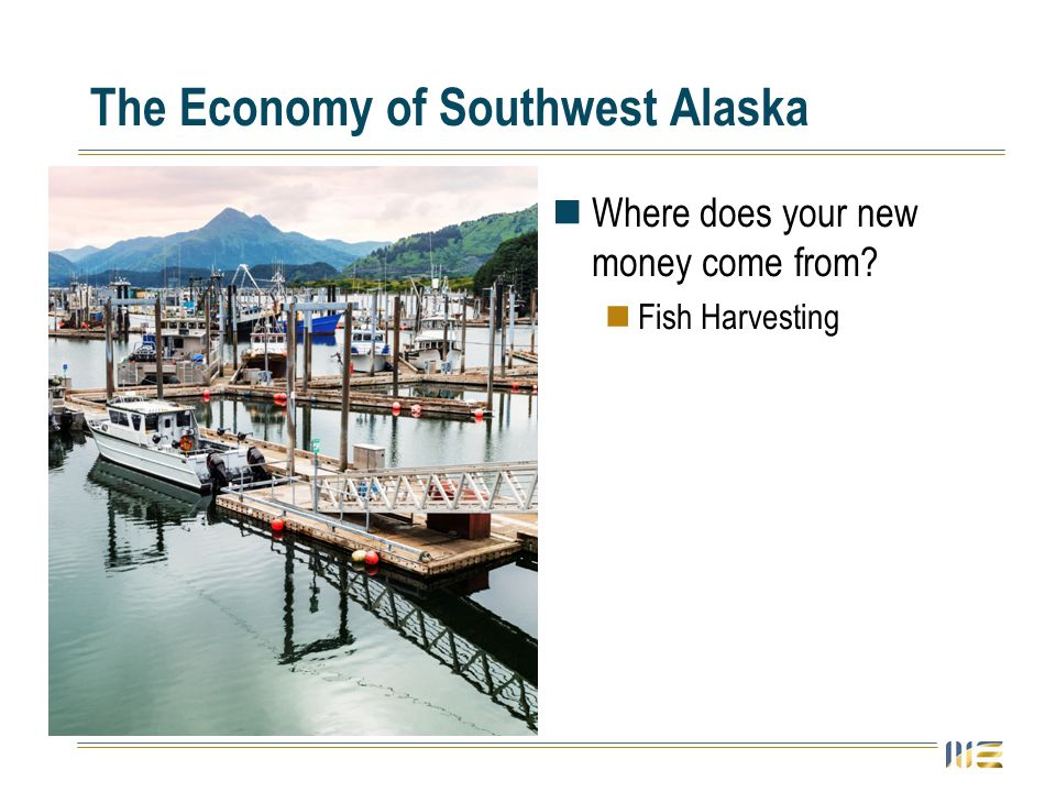The Economy of Southwest Alaska Where does your new money come from? Fish Harvesting