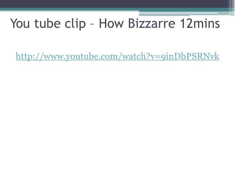 You tube clip – How Bizzarre 12mins http://www.youtube.com/watch?v=9inDbPSRNvk