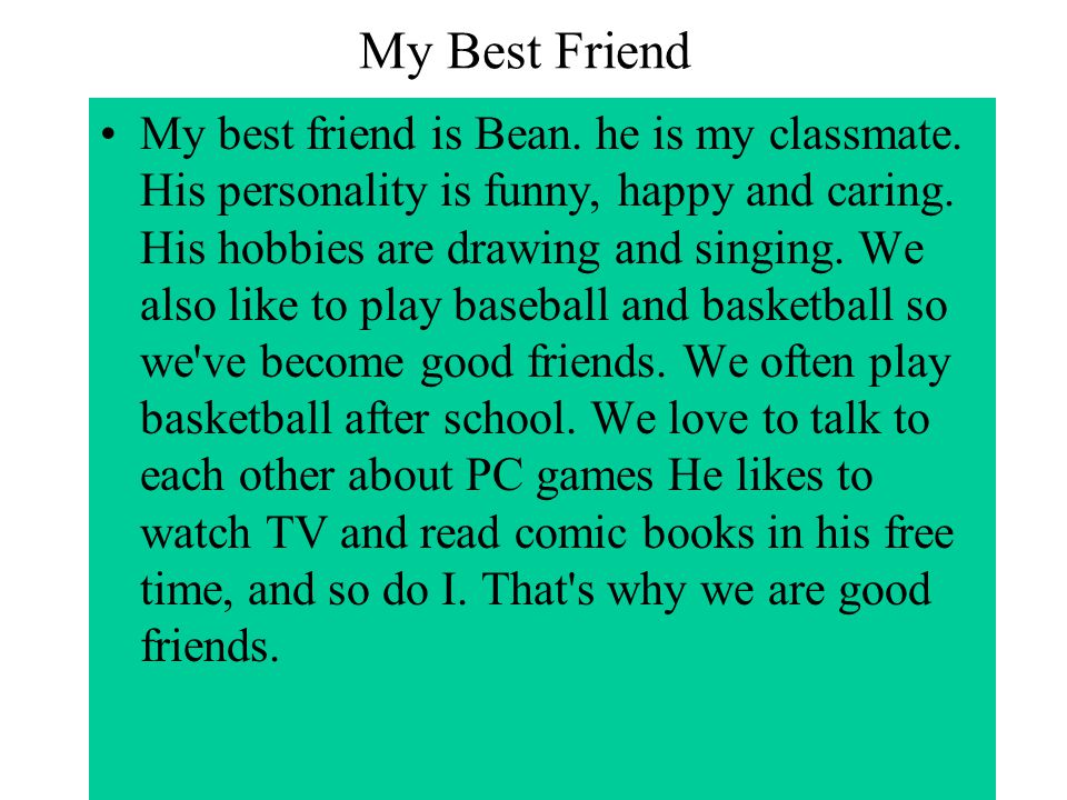 description of a good friend essay