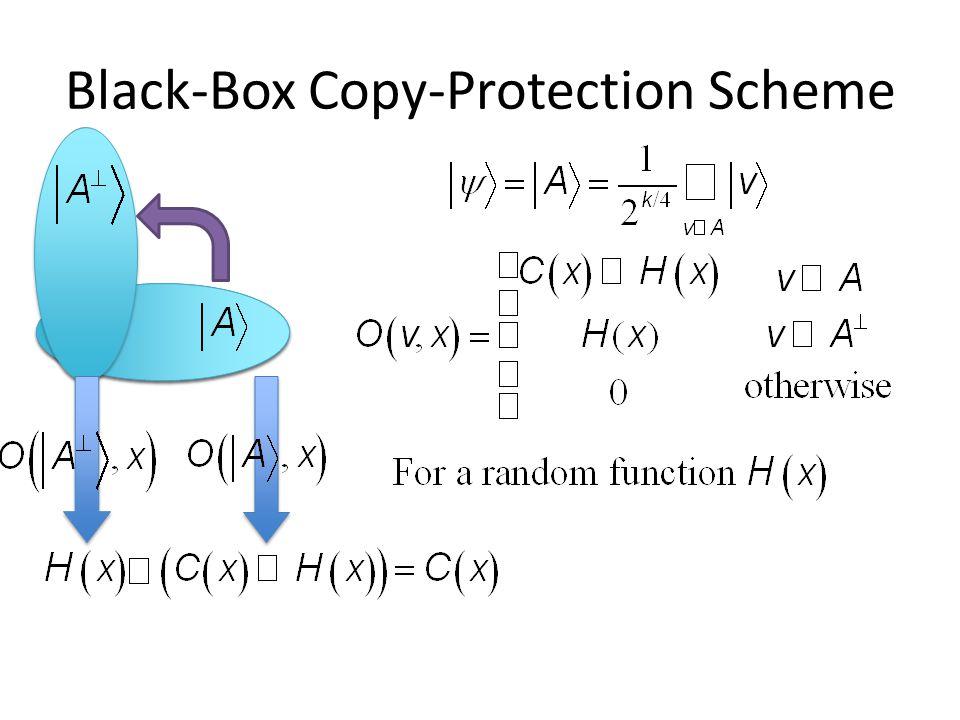 Black-Box Copy-Protection Scheme